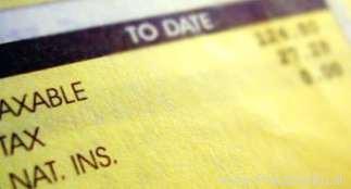 Výplatná páska - daň v Anglicku