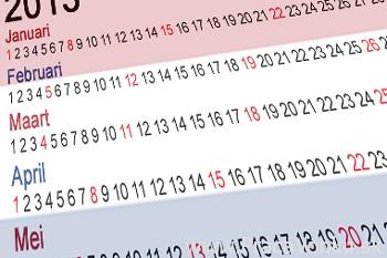 Holandský kalendár - sviatky