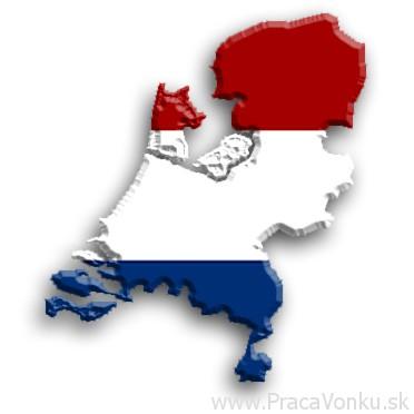 Holandsko silueta s vlajkou