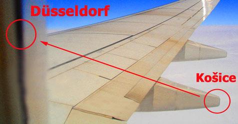 Lety z Košíc do Duselfdorfu