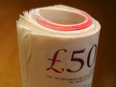 Britské libry - 50GBP