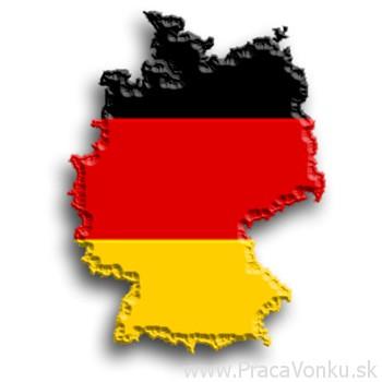 Mapa s nemeckou vlajkou